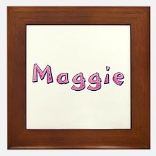 Maggie Pink Giraffe Framed Tile