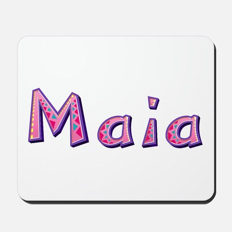 Maia Pink Giraffe Mousepad