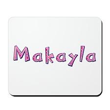 Makayla Pink Giraffe Mousepad