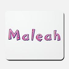 Maleah Pink Giraffe Mousepad
