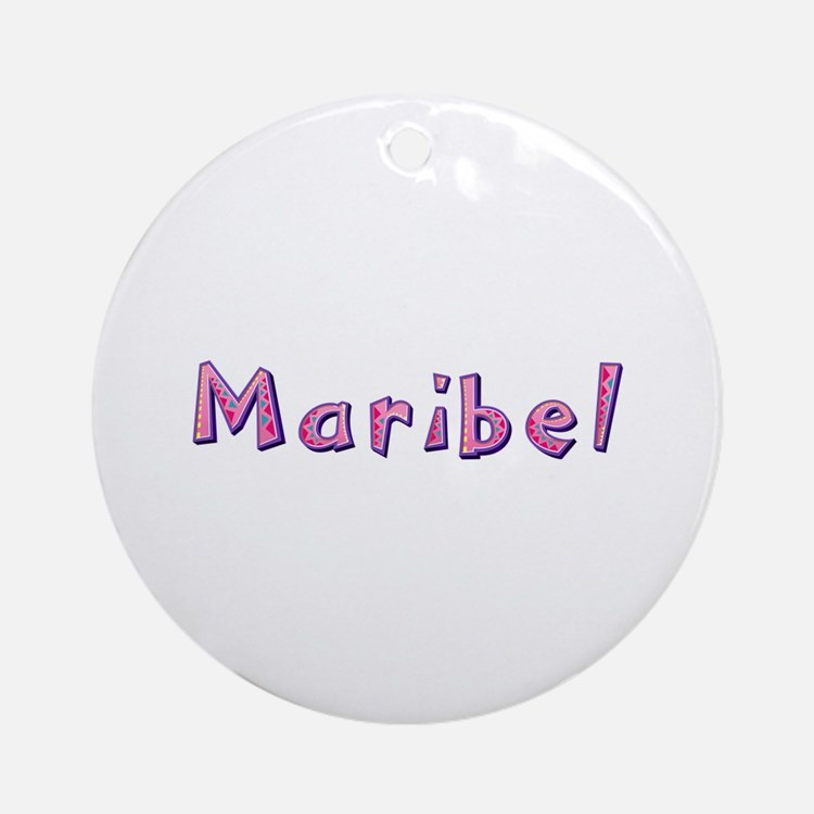 Maribel Pink Giraffe Round Ornament