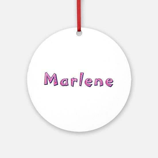Marlene Pink Giraffe Round Ornament