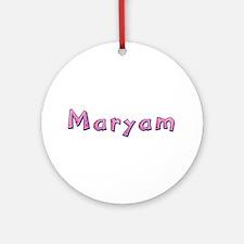 Maryam Pink Giraffe Round Ornament