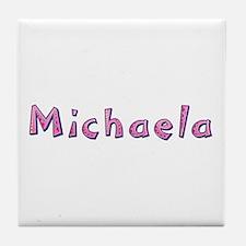 Michaela Pink Giraffe Tile Coaster