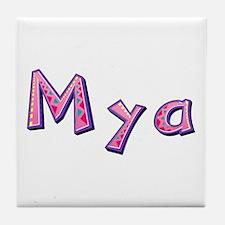 Mya Pink Giraffe Tile Coaster
