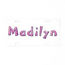 Madilyn Pink Giraffe Aluminum License Plate