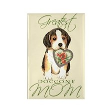 Beagle Mom Rectangle Magnet