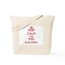 Keep Calm and Kiss Kaliyah Tote Bag