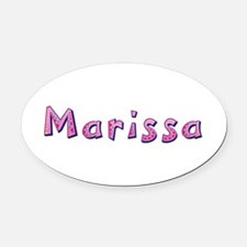 Marissa Pink Giraffe Oval Car Magnet
