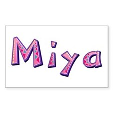 Miya Pink Giraffe Rectangle Decal