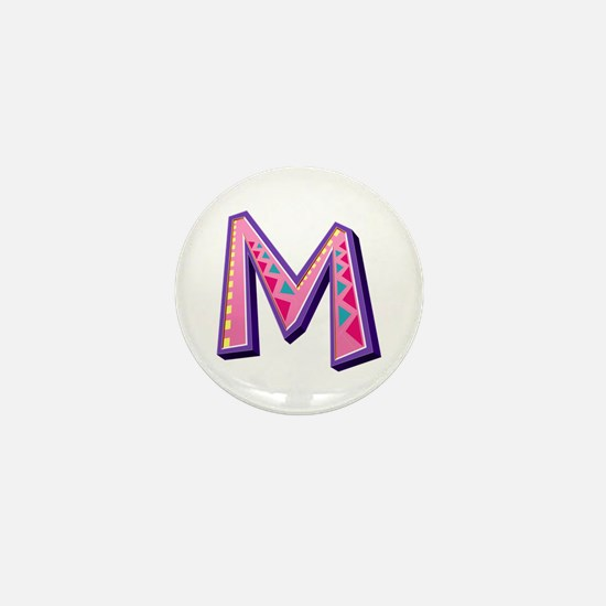 M Pink Giraffe Mini Button