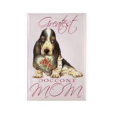 Basset Mom Rectangle Magnet
