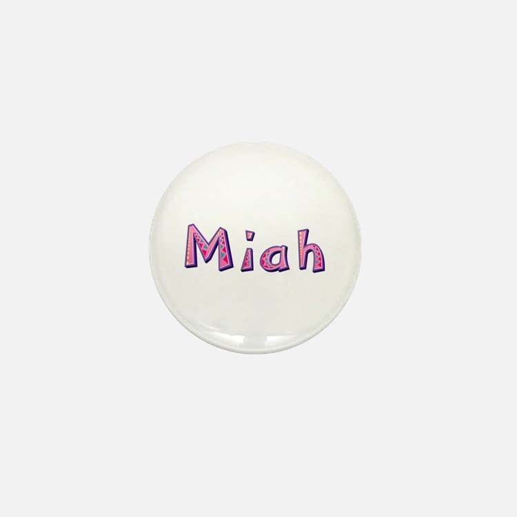 Miah Pink Giraffe Mini Button