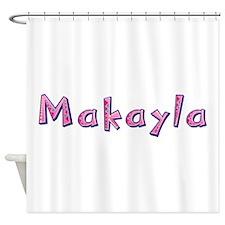 Makayla Pink Giraffe Shower Curtain