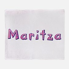 Maritza Pink Giraffe Throw Blanket