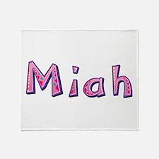 Miah Pink Giraffe Throw Blanket