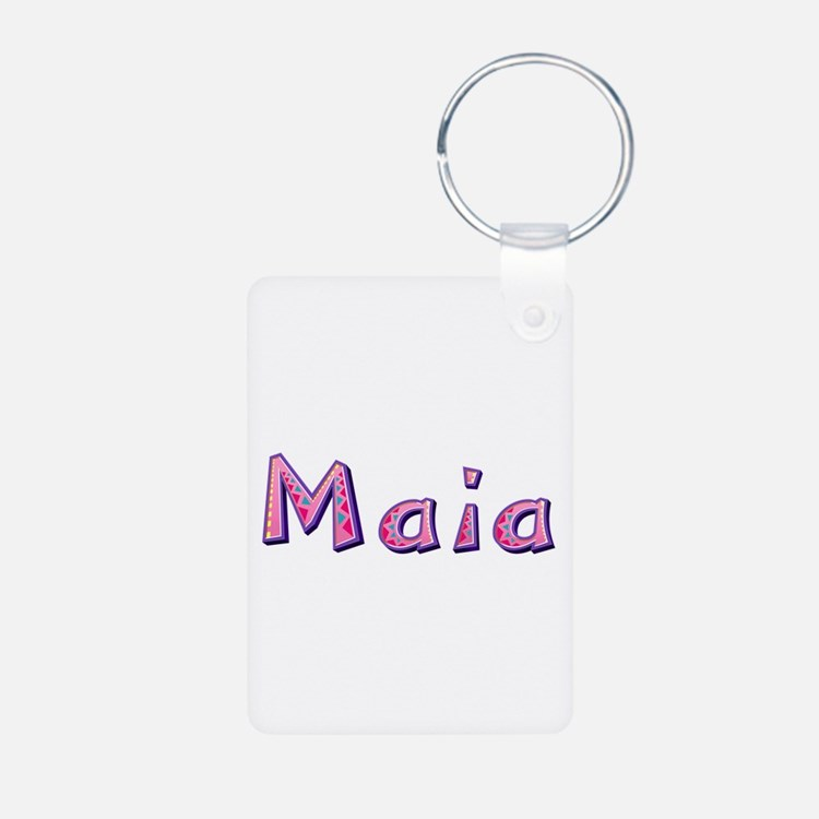 Maia Pink Giraffe Aluminum Keychain