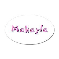 Makayla Pink Giraffe 20x12 Oval Wall Decal