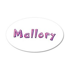 Mallory Pink Giraffe 35x21 Oval Wall Decal