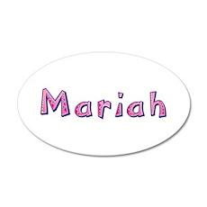 Mariah Pink Giraffe 20x12 Oval Wall Decal