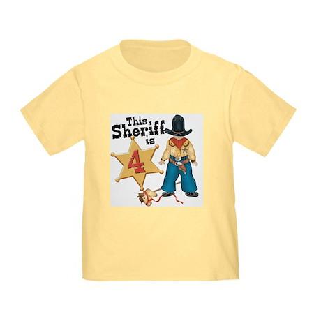 Sheriff 4th Birthday Toddler T-Shirt