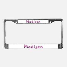 Madisen Pink Giraffe License Plate Frame