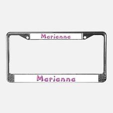 Marianna Pink Giraffe License Plate Frame
