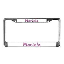 Mariela Pink Giraffe License Plate Frame