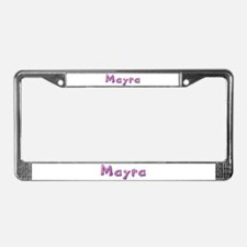 Mayra Pink Giraffe License Plate Frame