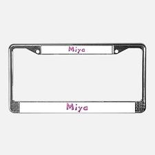 Miya Pink Giraffe License Plate Frame