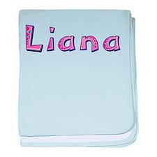 Liana Pink Giraffe baby blanket