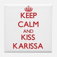 Keep Calm and Kiss Karissa Tile Coaster