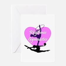 Rhythmic Gymnastics Greeting Cards
