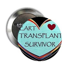 "Heart Transplant Survivor 2.25"" Button"