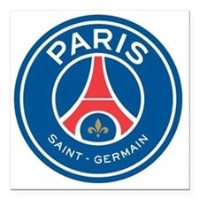 "Paris Saint Germain Square Car Magnet 3"" x 3"""
