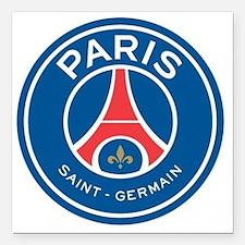 "Paris Saint Germain Square Car Magnet 3"" x 3"""
