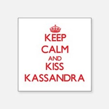 Keep Calm and Kiss Kassandra Sticker