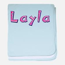 Layla Pink Giraffe baby blanket