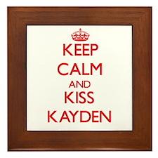 Keep Calm and Kiss Kayden Framed Tile