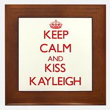 Keep Calm and Kiss Kayleigh Framed Tile