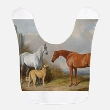 Two Horses and a Deerhound Bib