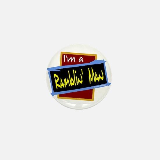 Ramblin Man/Weylon Jennings Mini Button