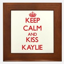 Keep Calm and Kiss Kaylie Framed Tile