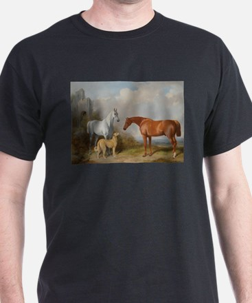 Two Horses and a Deerhound T-Shirt
