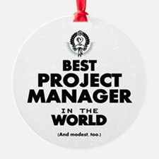 Best Project Manager in the World Ornament