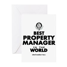 Best Property Manager in the World Greeting Cards