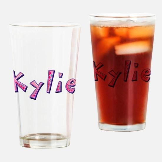 Kylie Pink Giraffe Drinking Glass