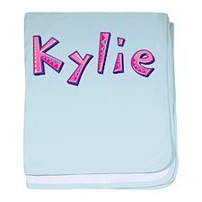 Kylie Pink Giraffe baby blanket