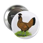 Gold Brabanter Hen Button