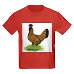 Gold Brabanter Hen Kids Dark T-Shirt